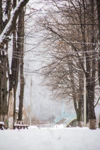Iarna în Onești