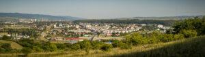 Platforma Petrochimică Borzești și o parte din Onești - panoramă de pe dealul Perchiu